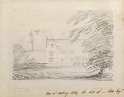 View of Malling Abbey the Seat of ---- Foote Esq.